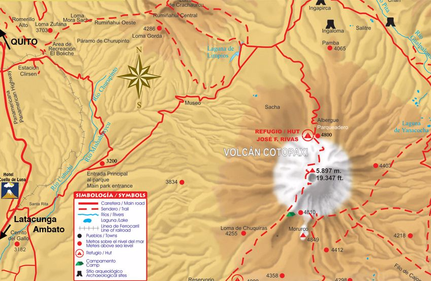 Cotopaxi Map