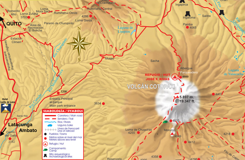 map cotopaxi nationalpark